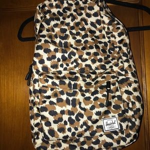 leopard print Hershel backpack. Never used.